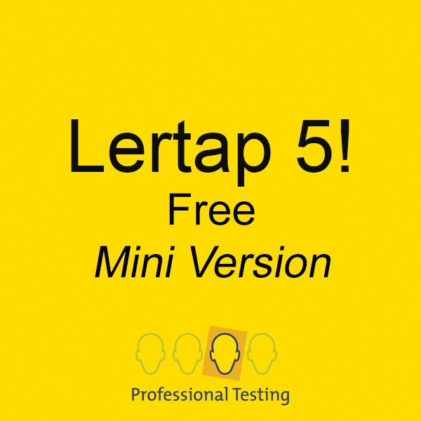 Lertap 5 Free Version